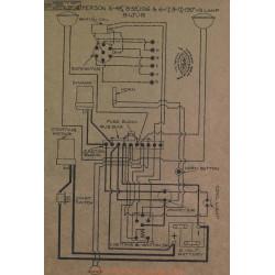 Apperson 6 48 58 17 Schema Electrique 1916 1917 Bijur