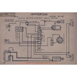 Apperson 6 48 6volt Schema Electrique 1916 Bijur Delco V2