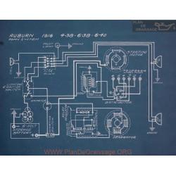 Auburn 4 38 6 38 6 40 Schem Electrique 1916
