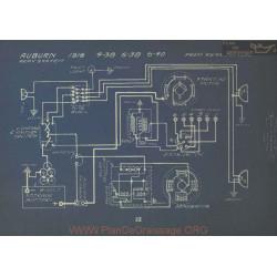 Auburn 4 38 6 38 6 40 Schema Electrique 1916 Remy