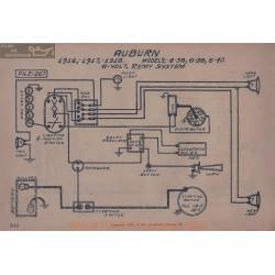 Auburn 4 38 6 40 6volt Schema Electrique 1916 1917 1918 Remy