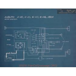 Auburn 4 40 4 41 6 45 6 46 Schema Electrique 1914