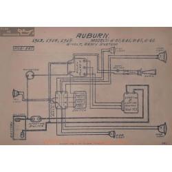 Auburn 4 40 41 45 46 6volt Schema Electrique 1913 1914 1915 Remy