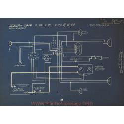 Auburn 4 40 41 45 46 Schema Electrique 1914 Remy