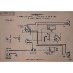Auburn 6 39 6volt Schema Electrique 1919 1920 1921 Remy