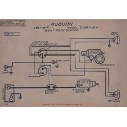 Auburn 6 39 H K 6volt Schema Electrique 1917 1918 1919 Remy