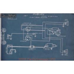 Auburn 6 39 H K 6volt Schema Electrique 1917 Remy
