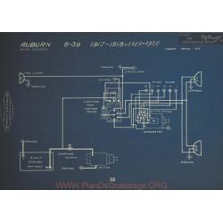 Auburn 6 39 Schema Electrique 1917 1918 1919 1920 Remy
