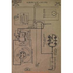 Auburn 6 39 Schema Electrique 1917 1918 Remy