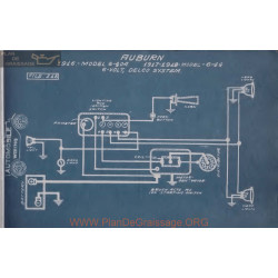 Auburn 6 40 44 6volt Schema Electrique 1916 1917 1918 Delco