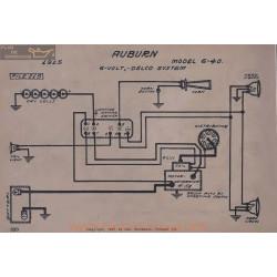 Auburn 6 40 6volt Schema Electrique 1915 Delco V2