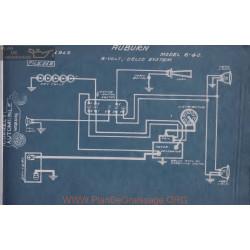 Auburn 6 40 6volt Schema Electrique 1915 Delco