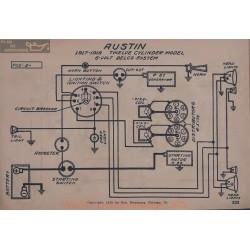 Austin Twelve Cyle-indre 6volt Schema Electrique 1917 1918 Delco