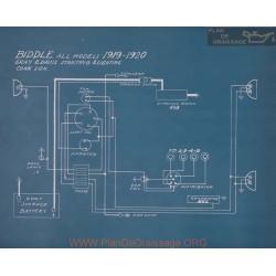 Biddle All Models Schema Electrique 1919 1920
