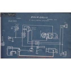Bour Davis 20 6volt Schema Electrique 1920 Remy