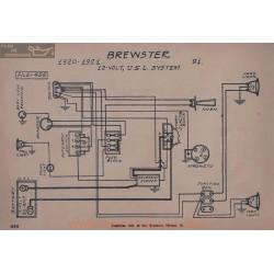 Brewster 91 12volt Schema Eelctrique 1920 1921 Usl