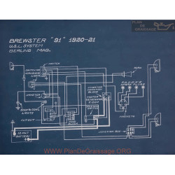 Brewster 91 Schema Electrique 1920 1921