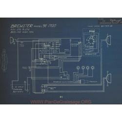 Brewster 91 Schema Electrique 1920 Usl Stg Ltg
