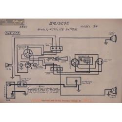 Briscoe 34 6volt Schema Electrique 1920 Autolite