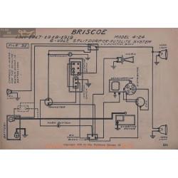 Briscoe 4 24 6volt Schema Electrique 1916 1917 1918 1919 Splitdorf Autolite