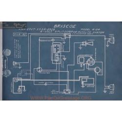 Briscoe 4 24 6volt Schema Electrique 1916 1917 1918 1919 Splitdorf Eutolite