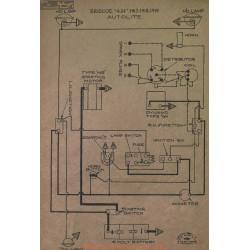 Briscoe 4 24 Schema Electrique 1917 1918 1919 Autolite