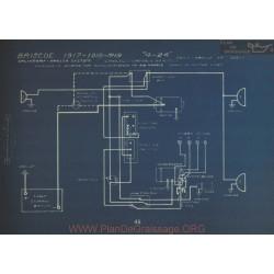 Briscoe 4 24 Schema Electrique 1917 1918 1919 Splitdorf Apelco