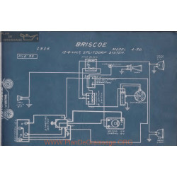 Briscoe 4 38 6 Volt 12volt Schema Electrique 1916 Splitdorf