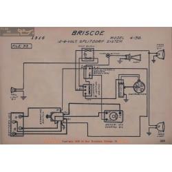 Briscoe 4 38 6volt 12volt Schema Electrique 1916 Splitdorf