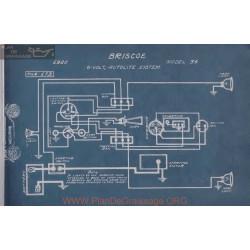 Briscoe 6volt 34 Schema Electrique 1920 Autolite