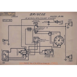 Briscoe 8 38 6volt 12volt Schema Electrique 1916 Splitdorf