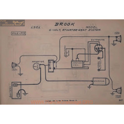Brook All Model 6volt Schema Electrique 1921 Atwater Kent