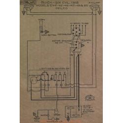 Buick 6cyl E44 E45 E46 E47 E49 E50 Schema Electrique 1918 Delco