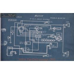 Buick 8 54 55 6volt Schema Electrqiue 1914 Delco