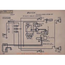 Buick B24 B25 B36 B37 6volt Schema Electrique 1914 Delco