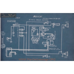 Buick B24 B25 B36 B37 Schema Electrique 1914 Delco