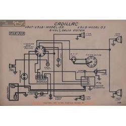 Cadillac 55 57 6volt Schema Electrique 1917 1918 1919 Delco V2