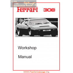 Ferrari Dino 308 Gt4 Workshop Service Manual