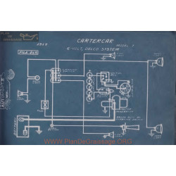 Cartecar T 6volt Schema Electrique 1914 Delco