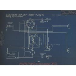 Chalmers 17 18 19 Schema Electrique 1913 1914 Gray & Davis