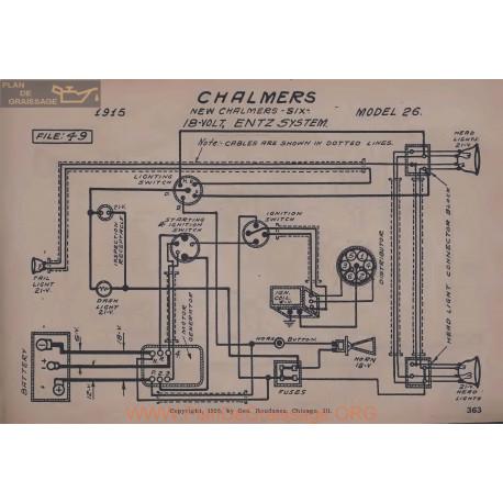 Chalmers 26 Six 18volt Schema Electrique 1915 Entz V2