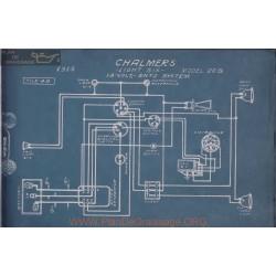 Chalmers 26b Six Schema Electrique 1915 Entz