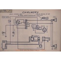 Chalmers 32 6 40 6volt Schema Elctrique 1915 1916 Westinghouse