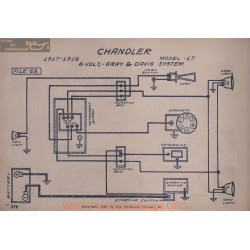 Chandler 17 6volt Schema Electrique 1917 1918 Gray & Davis V2