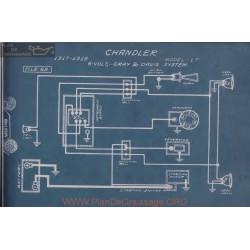 Chandler 17 6volt Schema Electrique 1917 1918 Gray & Davis