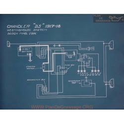 Chandler 25 Schema Electrique 1917 1918