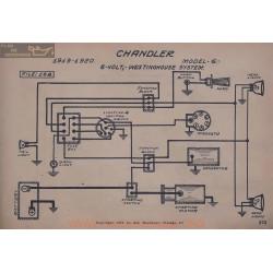 Chandler 6 6volt Schema Electrique 1919 1920 Westinghouse