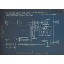 Chandler Light Weight Six Schema Electrique 1917 1918 1919 Gray & Davis Bosch