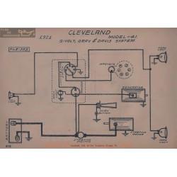 Chevrolet 41 6volt Schema Electrique 1921 Gray & Davis