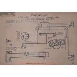 Chevrolet 490 6volt Schema Electrique 1920 1921 Autolite